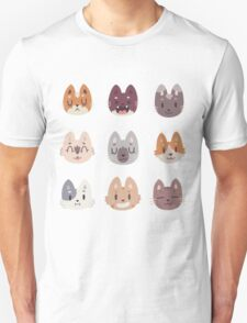 Kitty Cat Faces Pattern Unisex T-Shirt