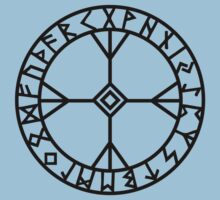 Algiz rune - Wisdom and courage - amulet  Kids Clothes