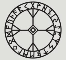 Algiz rune - Wisdom and courage - amulet  by nitty-gritty