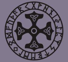 Thors Hammer, Runes, Triquetra, Mjolnir, Mjölnir, Amulet, Celtic Kids Clothes