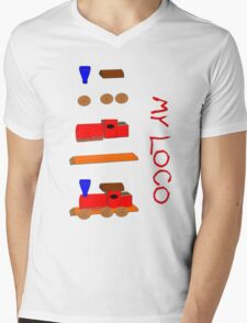 My Steam Loco kit of parts T-shirt Mens V-Neck T-Shirt
