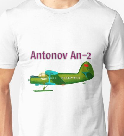 Antonov An-2 with text Unisex T-Shirt