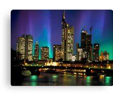 Northern Lights Hit Frankfurt (landscape) Canvas Print