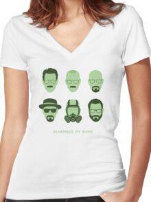 ALL HAIL HEISENBERG! Women's Fitted V-Neck T-Shirt