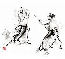 Aikido enso circle martial arts sumi-e original ink painting artwork by Mariusz Szmerdt