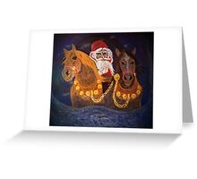 King Winter Rides In Greeting Card