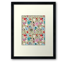texture of unusual plants and bird lovers Framed Print