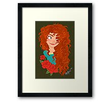 Brave: Merida Framed Print