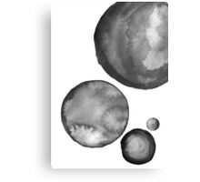 Ink Circles Abstract Art Canvas Print