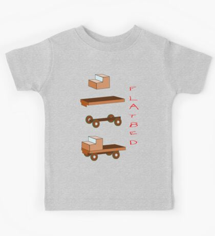 Flatbed Truck kit of parts T-shirt Kids Tee