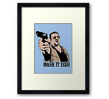 The Big Lebowski Mark It Zero Color Tshirt Framed Print