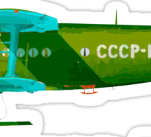 Antonov An-2 with Russian text Sticker