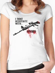 I Don't Negotiate with Noobs Women's Fitted Scoop T-Shirt