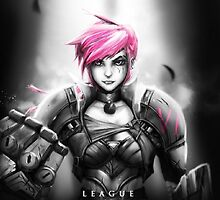 Vi, League of Legends by AvaaMeepo