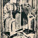 'Cointreau' Still-Life on Shoebox Paper by Kerryn Madsen-Pietsch