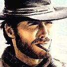 Clint Eastwood miniature by wu-wei