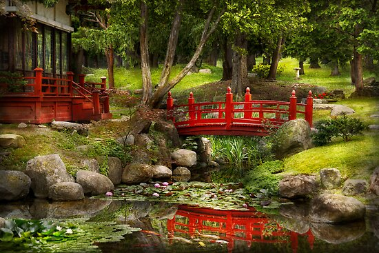 Japanese Garden - Meditation  by Mike  Savad
