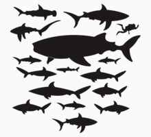 Shark Chart Cool Nerd Funny T-Shirt by porsandi