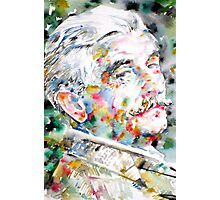 WILLIAM FAULKNER watercolor portrait Photographic Print
