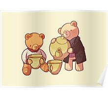 two two one teddybear Poster