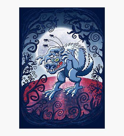 Werewolf Scratching Spooky Fleas Photographic Print