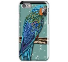 blue parrot iPhone Case/Skin
