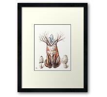 Crystal Fox Framed Print