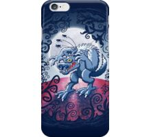 Werewolf Scratching Spooky Fleas iPhone Case/Skin