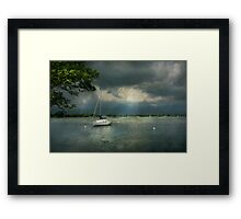 Boat - Canandaigua, NY - Tranquility before the storm  Framed Print