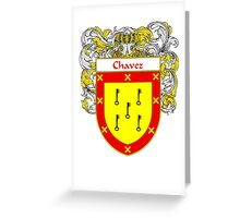 Chavez Coat of Arms/Family Crest Greeting Card