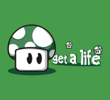 "Mario - Life Up Mushroom "" Get a Life "" by elPotto"
