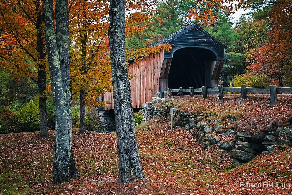 Corbin Covered Bridge Newport New Hampshire by Edward Fielding
