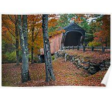 Corbin Covered Bridge Newport New Hampshire Poster