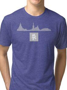 Monstercat Visualizer - Electronic Gray Tri-blend T-Shirt