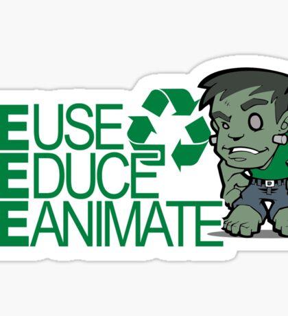 Frankenstein - Recycle Sticker