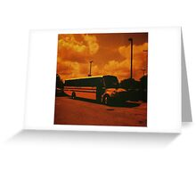Redscale School Bus Greeting Card