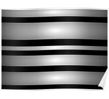 Simple Monochrome Stripes Art Poster