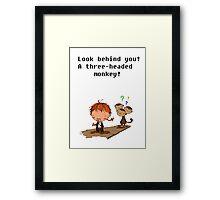 Three headed monkey!! Framed Print
