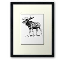 Moose Sketch Framed Print