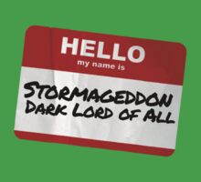 Hello My Name Is Stormageddon - Doctor Who by robotplunger