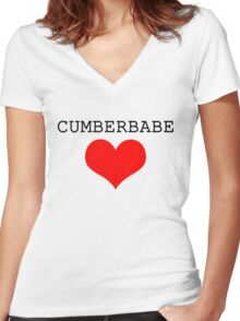 Cumberbabe Dark Heart Women's Fitted V-Neck T-Shirt