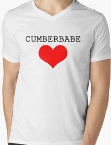 Cumberbabe Dark Heart Mens V-Neck T-Shirt