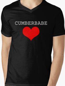 Cumberbabe Light Heart Mens V-Neck T-Shirt