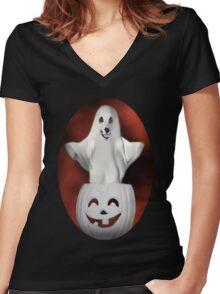 ╭∩╮( º.º )╭∩╮BOO-BOO WHO??-BOO WHO-TEE SHIRT ╭∩╮( º.º )╭∩╮ Women's Fitted V-Neck T-Shirt