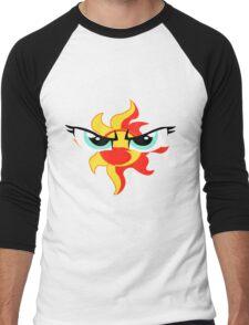 Sunset Shimmer Emblem Men's Baseball ¾ T-Shirt