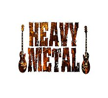 Heavy metal rules Photographic Print