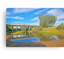 swan river upper swan, but's a puddle of water Canvas Print