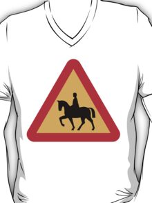 Horseback Crossing Sign T-Shirt