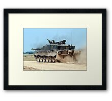 Challenger 2 Main Battle Tank (MBT) British Army Framed Print