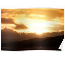 Highland Sunset over Loch Alsh Poster